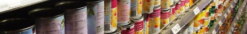 Canned food (tins)